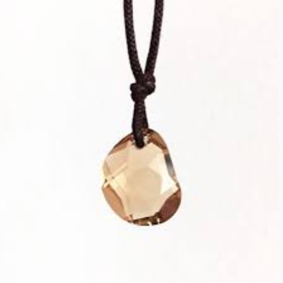 2720eb85c854 Swarovski Crystal Tie Cotton Cable Necklace. M 5aa7fcb4739d48f9b736092d